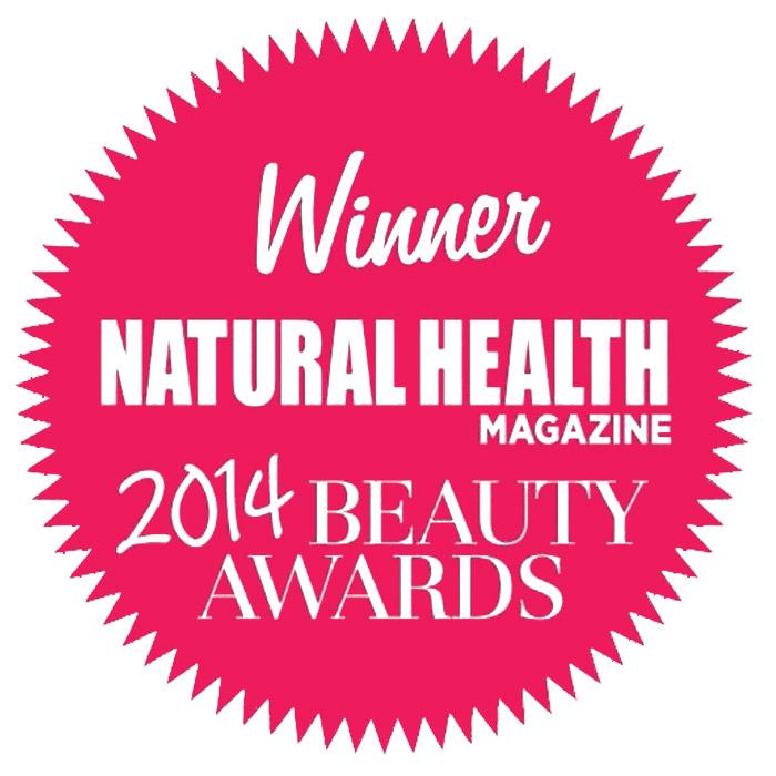 Natural Health 2014 beauty award Urban Veda