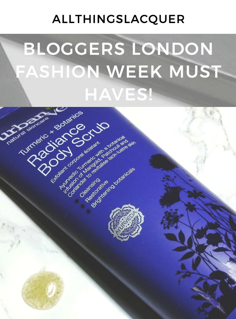 Bloggers London Fashion week skincare